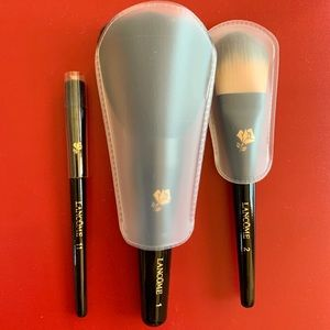 NEW Lancôme brush set in pouch brushes #1, #2, #11